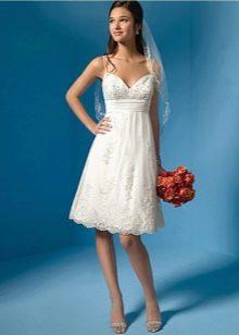 Укороченное платье ампир