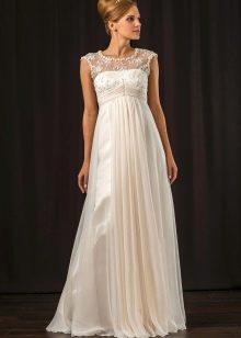 Свадебное платье ампир атласное