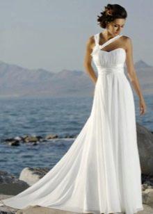 Платье ампир свадебное для пляжной церемонии
