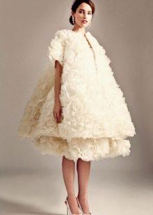 Свадебное страшное платье миди