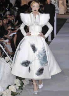 Свадебное платье с пышными рукавами от Диора