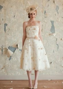 Короткое винтажное платье свадебное