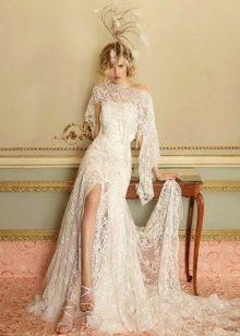 Свадебное винтажное платье в стиле 20-х годов