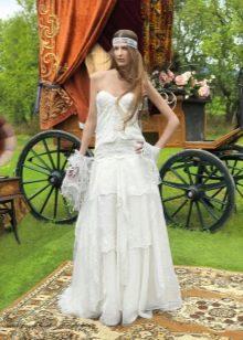 Свадебное платье в стиле циганского бохо