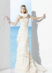 Винтажное платье свадебное от Йолана Криса
