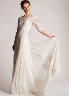 Кружевное винтажное свадебное платье