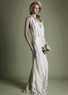 Винтажное свадебное платье с заниженной талией