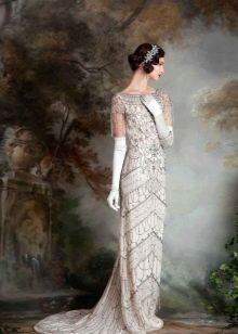 Серебристое винтажное свадебное платье Eliza Jane Howell