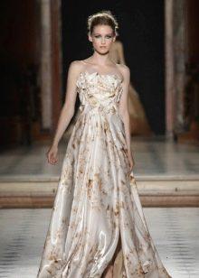 Вечернее платье бело-бежевое