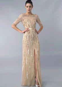 Вечернее платье с эффектом обнаженного тела