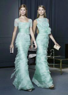 Вечернее платье от Rosa Clara бирюзовое