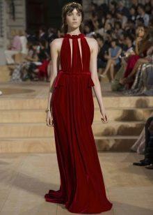Вечернее платье от Valentino бордовое