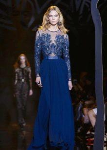 Вечернее платье от Elie Saab синее