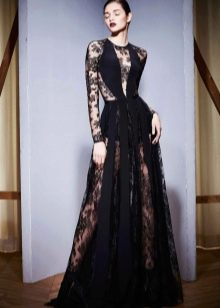 Вечернее платье от Zuhair Murad  черное в пол