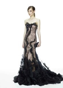 Вечернее платье от Marchesa русалка