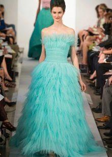 Вечернее платье от Oscar de la Renta голубое