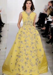 Вечернее платье от Oscar de la Renta желтое