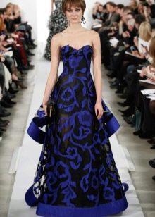 Вечернее платье от Oscar de la Renta синее