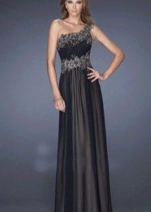 Вечернее платье от La Femme в греческом стиле