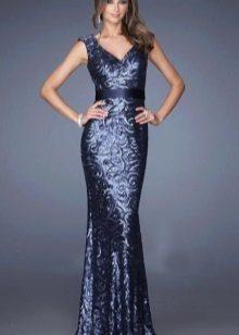 Вечернее платье от La Femme длинное