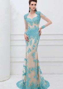 Вечернее платье от Angela & Alison голубое
