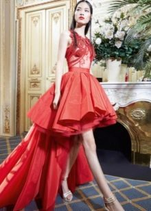 Вечернее платье от Yolan cris красное короткое