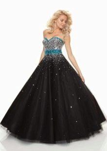 Вечернее платье для полных А-силуэта с блестками
