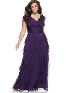 Сиреневое платье футляр вечернее для полных