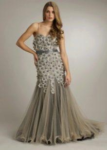 Платье вечернее русалка для полных