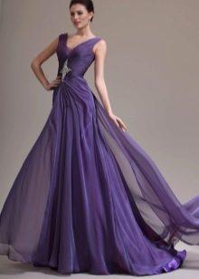 Фиолетовое вечернее платье разлетающееся