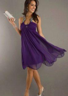фиолетовое вечернее платье
