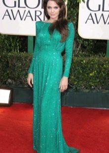 Анджелина Джоли - изумрудное платье