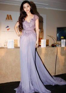 Лавандовое вечернее платье
