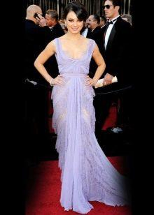 Лавандовое платье вечернее - Мила Кунис