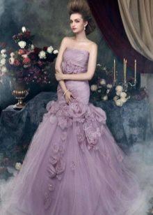 Лавандовое платье пышное