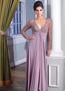 Красивое лавандовое вечернее платье