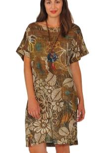 Вечернее платье для полных от Elena Miro с принтом