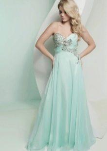 Вечернее платье мятного цвета для блондинок