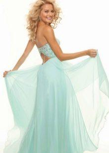 Вечернее платье мятного цвета для блондинки
