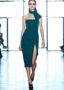 Вечернее платье цвета темной бирюзы