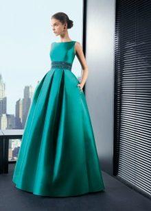 Вечернее бирюзовое платье от Rosa Clarа пышное