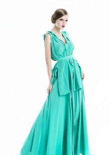 Вечернее платье цвета светлой бирюзы