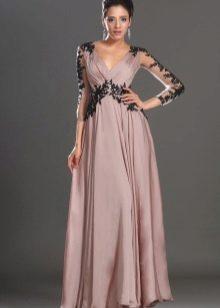 Вечернее платье с кружевом для беременных
