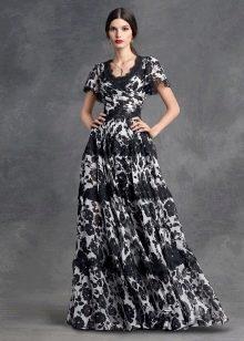 Вечернее платье с цветочным принтом от Дольче и Габбана