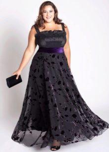 Вечернее платье ампир для полных