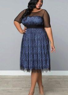 Вечернее платье для полных в стиле винтаж