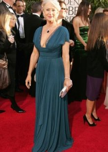 Вечернее платье с вырезом для женщин 50 лет