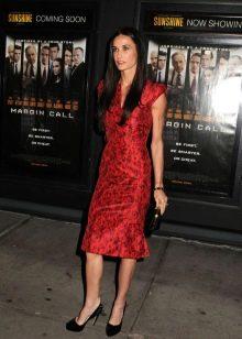 Красное вечернее платье для женщин 50 лет