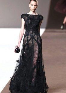 Вечернее платье от Эли Сааб черное