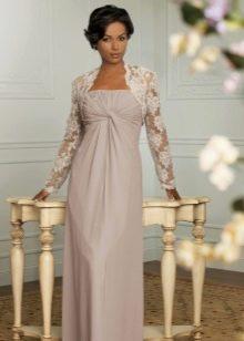 Вечернее платье ампир для мамы невесты